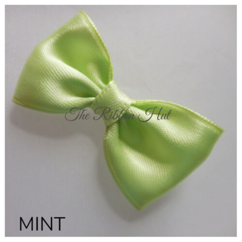 "Handmade-4.5cm 13//4/""inches -Pkt 6-Wedding Bows Satin Ribbon Mini Bow Tie"