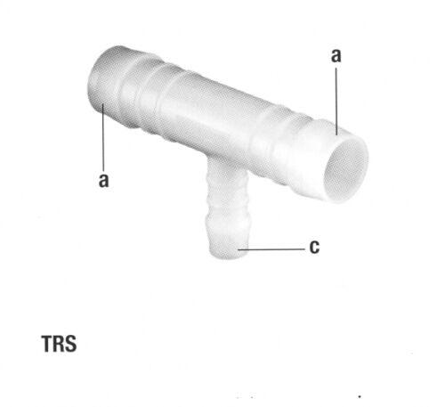 2er Set Pom Connettore T-Pezzo riduttore ritaglio
