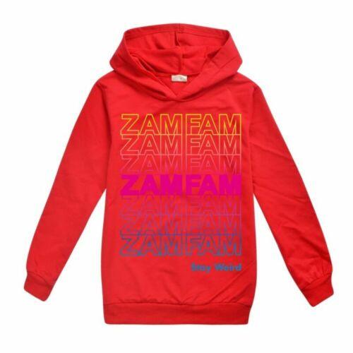 Zamfam Kids Hoodies Girls Hooded Rebecca Zamolo Sweatshirt Jacket Top Best Gift