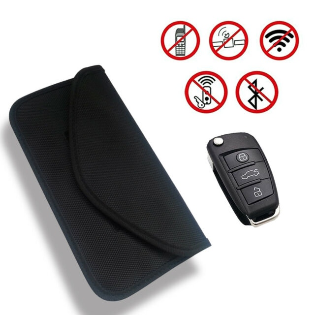 RFID Signal Blocking Bag Shielding Pouch Wallet Case for Cell Phone CarKey Black