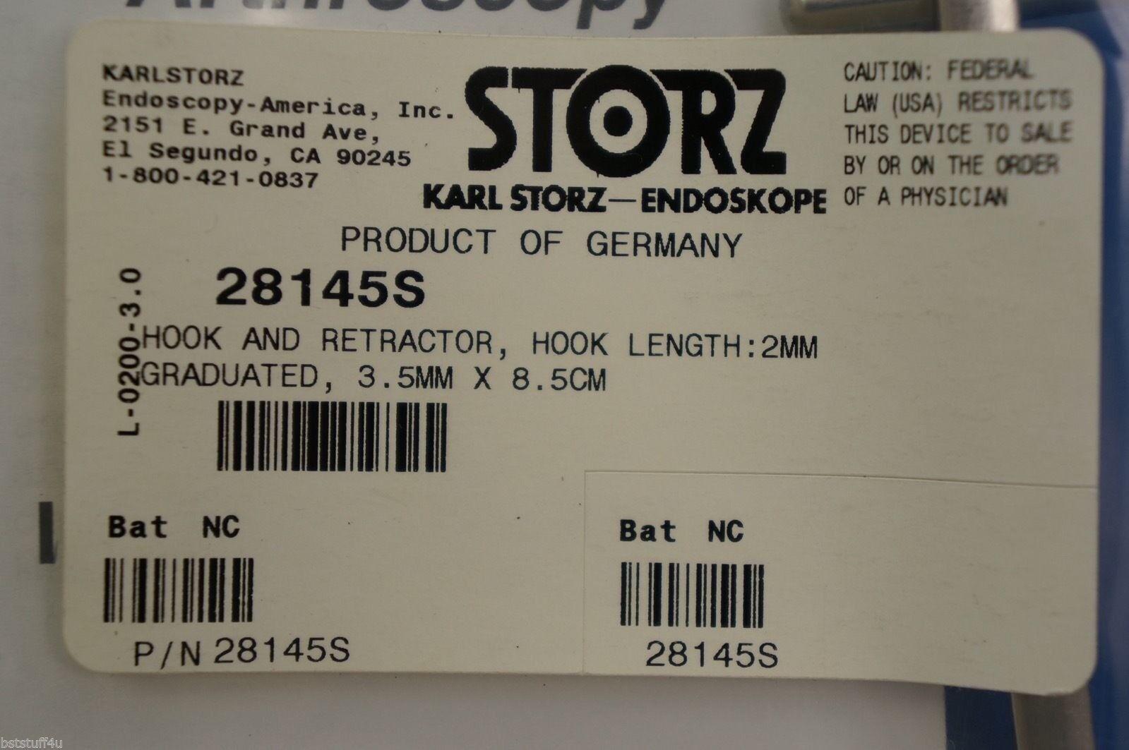 Karl Storz 28145s Gancho Y Retractor longitud del gancho de de de 2 mm Graduado 3,5 Mmx 8,5 Cm 8dafe0
