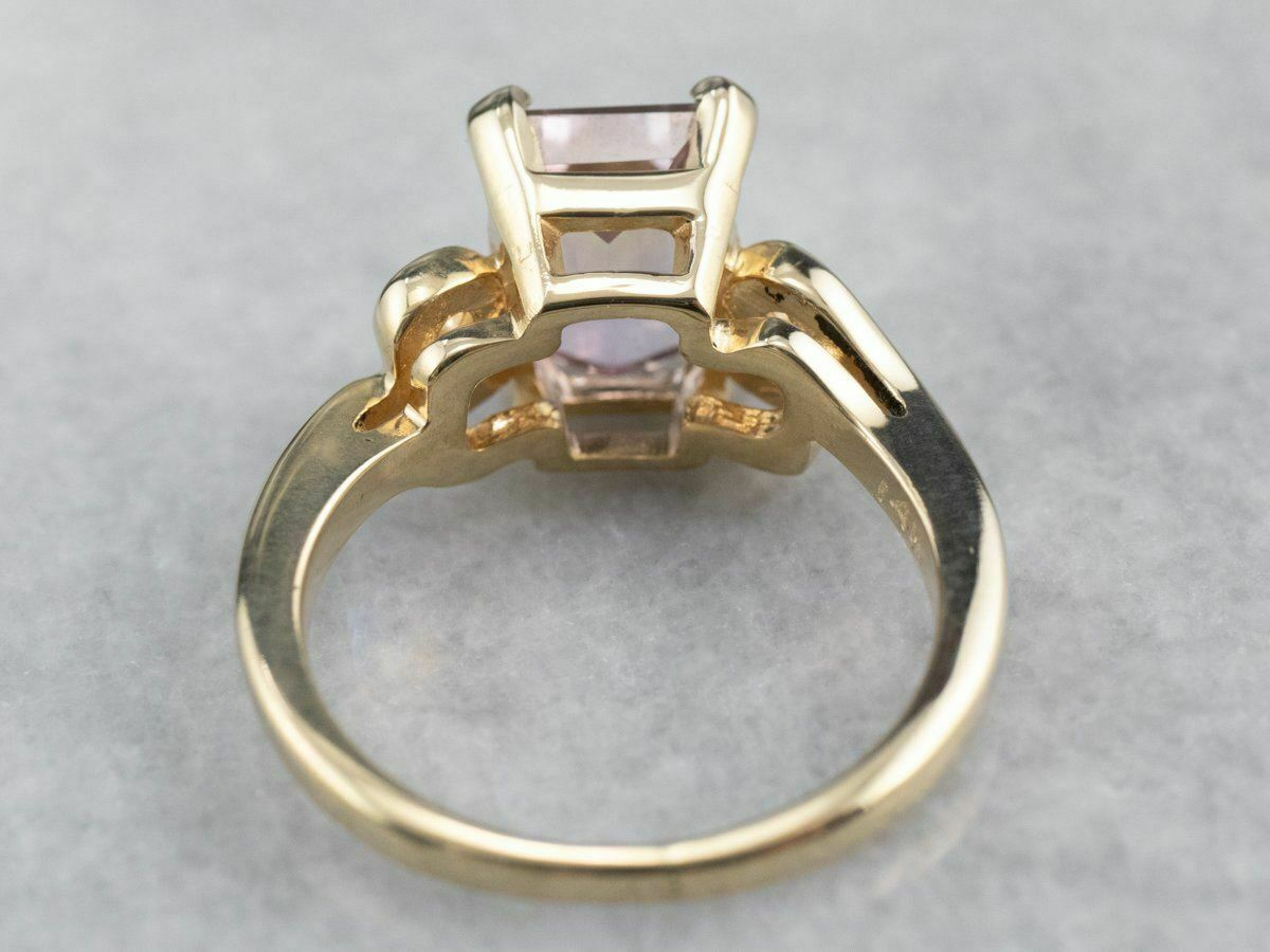 Ametrine Gold Solitaire Ring - image 5