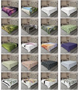 Ambesonne-Tree-Bloom-Flat-Sheet-Top-Sheet-Decorative-Bedding-6-Sizes