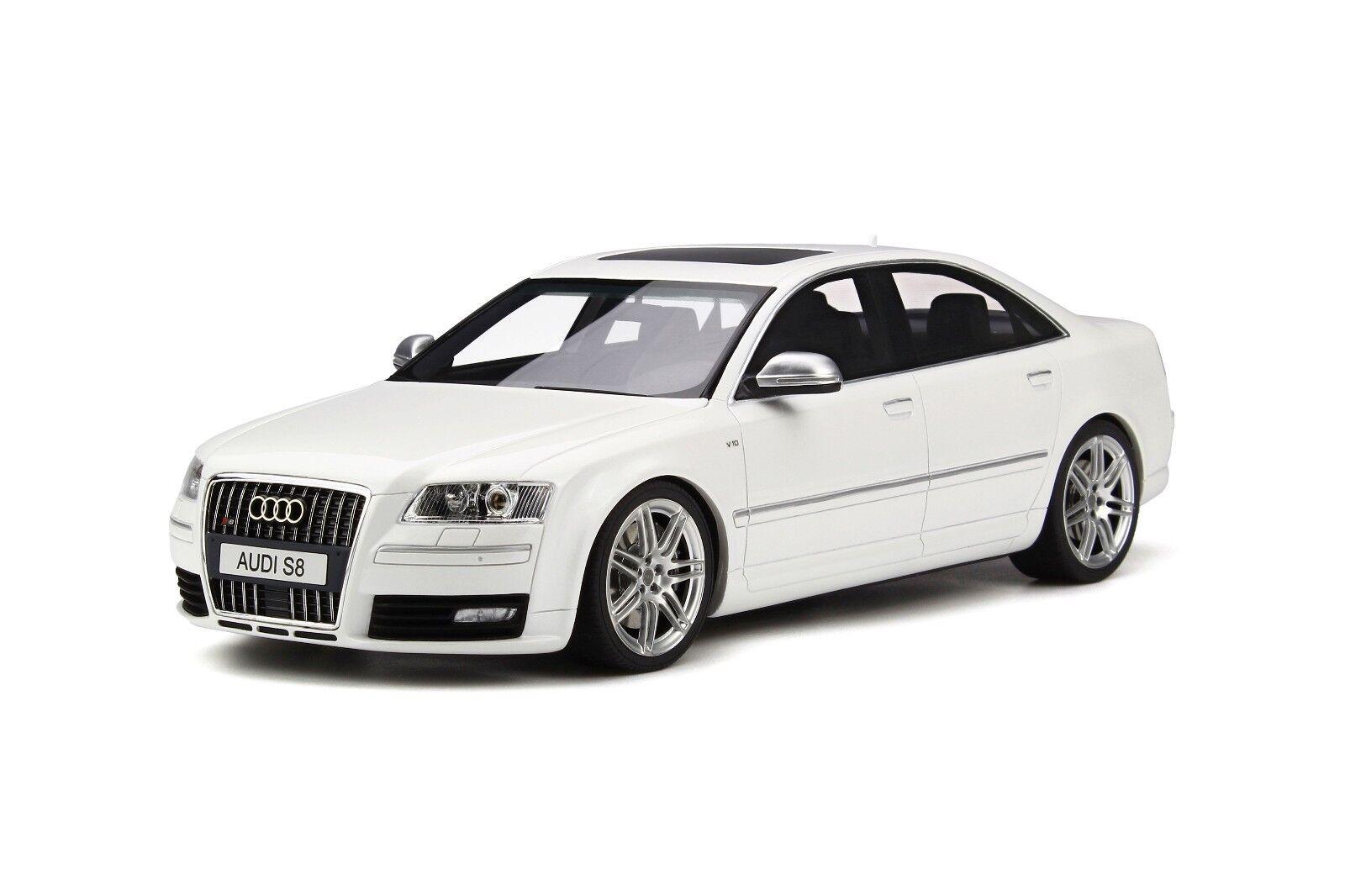 Audi S8 D3 5.2L V10 FSI Sports Limousine Ibis White White White 2008 Otto Mobile OT699 8ac90b