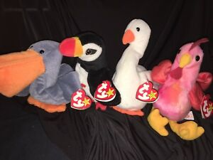1723eef0b41 Image is loading Group-Of-4-Rare-TY-Beanie-Babies-Gracie-