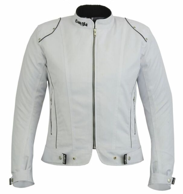Bangla Damen Motorrad Jacke Motorradjacke Textil Weiß S M L XL XXL XXXL