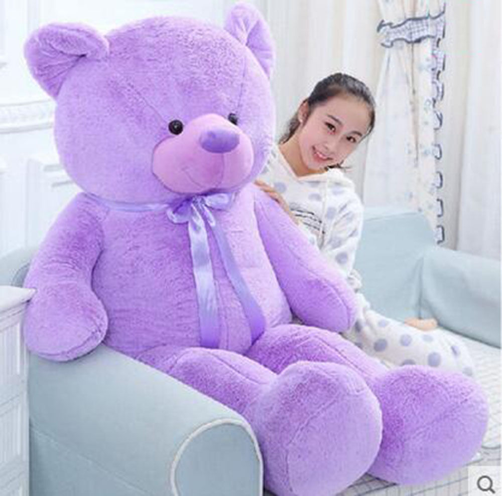 78  Giant Big Teddy Bear Plush Purple Huge Soft Doll Handmade Lavender 200cm Toy