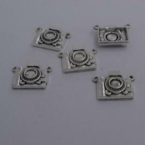 2pcs-Antique-silver-plated-nice-camera-charm-pendant-T0868