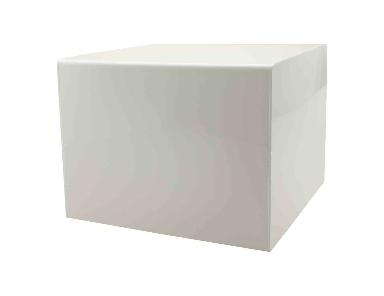 5 Sided Display Cube Pedestal Art Sculpture Stand 12  x 12  x 9  in White