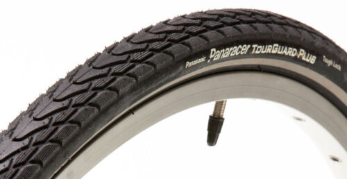 Panaracer 700c Tour Guard Plus Bike Tire Black ReflectiveStrip Flat Protection
