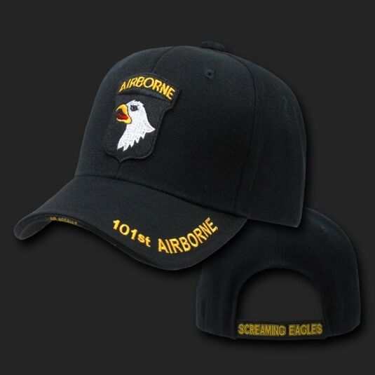 ARMY 101ST AIRBORNE AIRBORNE AIRBORNE SCREAMING EAGLES BLACK HAT CAP 54c71c