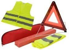EU Emergency Reflective Warning Triangle Sign and Safery Vest - BARGAIN ---£3.