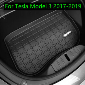 TPE Before Front Cargo Tray Trunk Rubber Floor Mat For Tesla Model 3