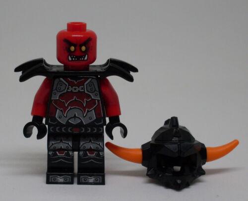 LEGO Chevalier Nexo Knights-Ash Attacker-Orange Horns NEUF 2 visages, casque