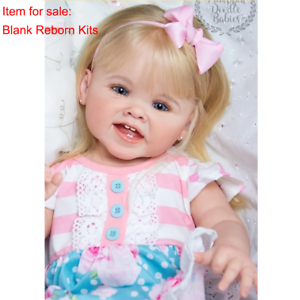 Blank Reborn Doll Kits Soft Vinyl Head Full Limbs for 28/'/' Toddler Baby Dolls