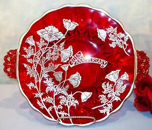 Ruby-Red-Glass-40th-Anniversary-Cake-Plate-with-Silver-Overlay-11-1-4-034