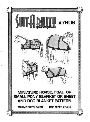 Horse Blanket Suitability Mini Foal Donkey Dog Rug Sewing Patterns 7606