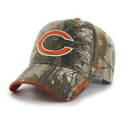 Chicago Bears '47 Brand Camo Realtree Frost MVP Adjustable Hat