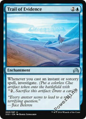 4 Trail of Evidence ~ Blue Shadows over Innistrad Mtg Magic Uncommon 4x x4