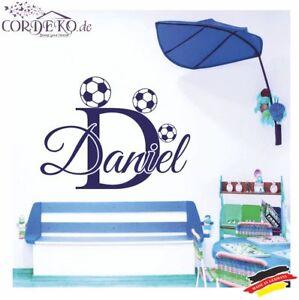 2019 DernièRe Conception Wunschname Football ● Mural ● Autocollant Les Enfantsname Jeune Film Sticker-afficher Le Titre D'origine