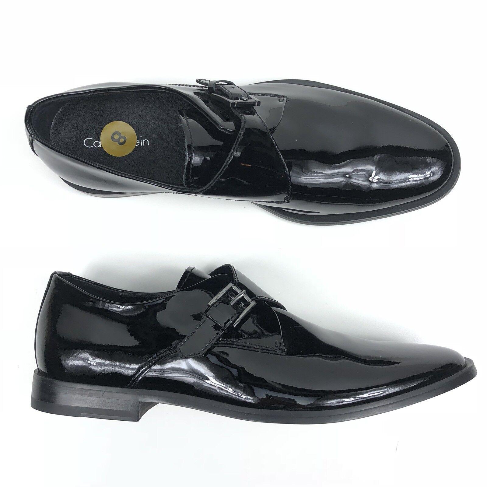 746ddbf3142 Calvin Klein Dress Shoe Patent Patent Patent Leather Black Men Sz 8 Buckle  Norm Tuxedo Oxford