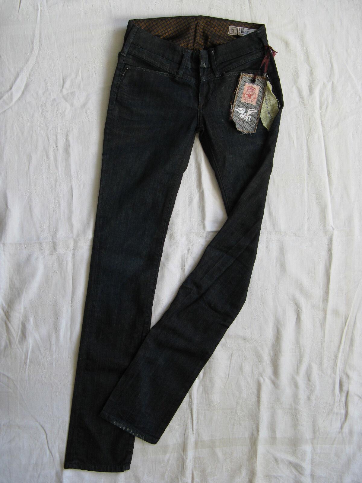 We ARE REPLAY DA DONNA blu JEANS STRETCH w26 l34 Low Waist Slim Fit Straight Leg