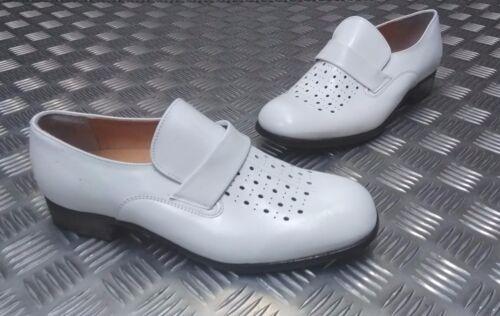 Allemand Original Militaire Cuir Blanc Matelots Uniforme Parade Chaussure Asst