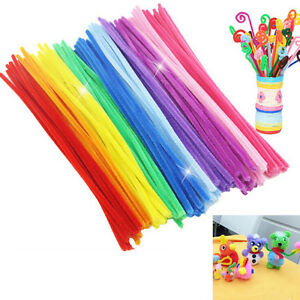 100Pcs-Chenille-Stems-Pipe-Cleaners-Kids-Craft-Educational-Toys-Twist-Rods-AU
