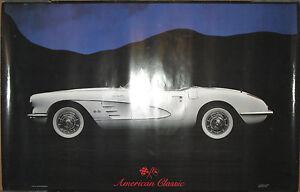 American-Classic-Corvette-poster-1986-22x33-VG