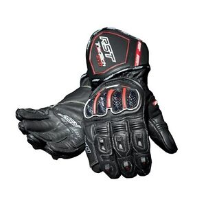 RST-TRACTECH-EVO-CE-Black-WATERPROOF-Motorbike-Leather-Sports-Gloves