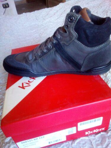 Zapatillas Kickers Gris Y Piel 41 N En Negra rrwvOxPq