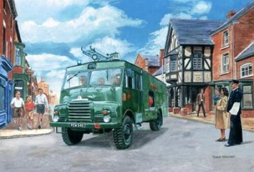 Green Goddess British Army Fire Engine Birthday Card