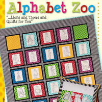 Alphabet Zoo: Lions & Tigers & Quilts For You Book Hand Embroidery Blocks