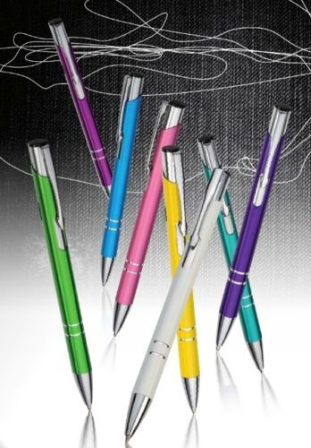 100 Metal Pens with Engraving Promotional Personalised Metal Ballpoint Pens.