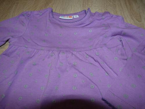 lila Pullover Shirt mit Glitzer Gr 86 Zwillinge