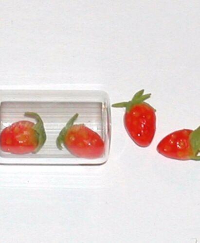 5pc Tiny vintage miniature dollhouse food mini Strawberry candy fruit desert NEW