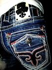 New NWT Mens Rock Revival Jeans Leotis Straight 29 30 31 32 34 36 38 40 42 Long
