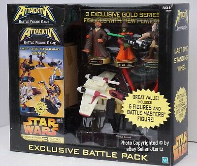 Star Wars Attacktix Series 3 Booster Pack COMBO w// 3 Figures NEW Hasbro 2005