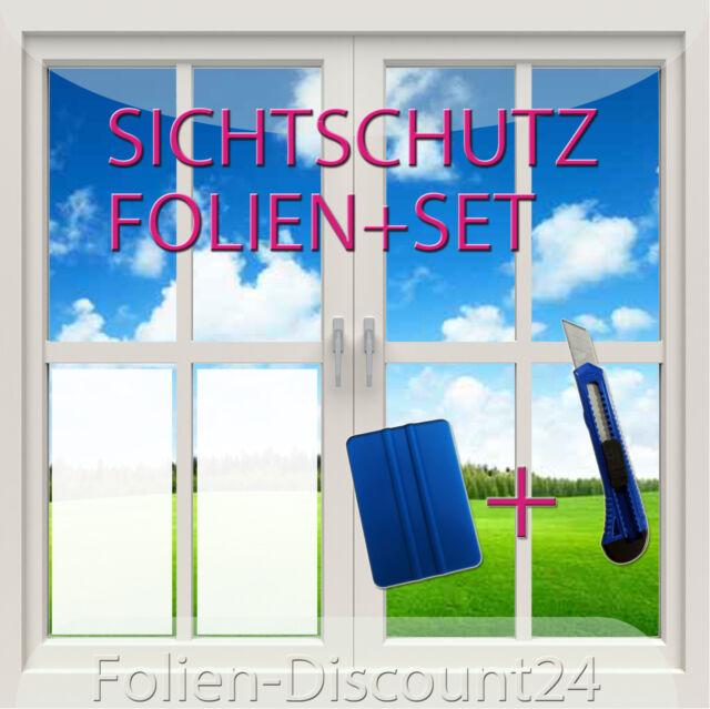 10,00€/m²) Sichtschutzfolie Fensterfolie 2 Meter x 30 cm 1x Messer 1xRakel