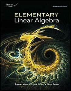 Elementary Linear Algebra 2nd Canadian Edition Canada Preview