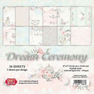 Paper-pad Papier-block Dream Ceremony Hochzeit Hintergrund Craft&You CPB-DC15