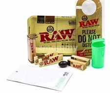 10+ Items-1 1/4 RAW ROLLING BUNDLE,ROLLERS,PAPERS,TRAY,TUBE,TIPS,FREE SHIPPING!!