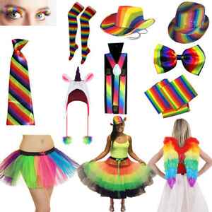 b6bf438b7a5 Image is loading Unisex-Gay-Pride-Rainbow-Fancy-Dress-Accessories-LGBT-