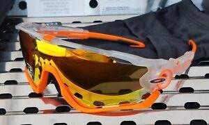 55dfcedf01 Image is loading New-Oakley-JAWBREAKER-9290-3731-Sunglasses-Matte-Crystal-
