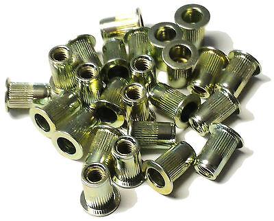 10/% Rebate Rivet nuts 10-32 steel 25pc BUY 3 or MORE rivnut riv nut nutsert