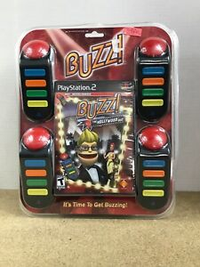 New-Sealed-Sony-PlayStation-2-Buzz-The-Hollywood-Quiz-Bundle-2008-Fast-Shipping