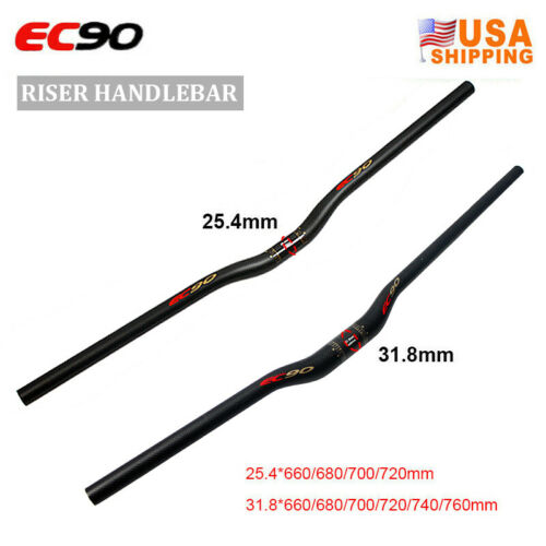 EC90 Full Carbon Bike Flat Riser Hnadlebar 31.8//25.4mm MTB Bar Stem 60-120mm US