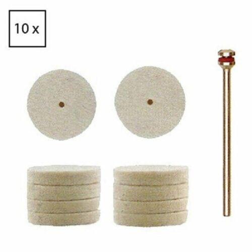 Proxxon filzscheiben 22 mm 10 pièces 1 porteurs