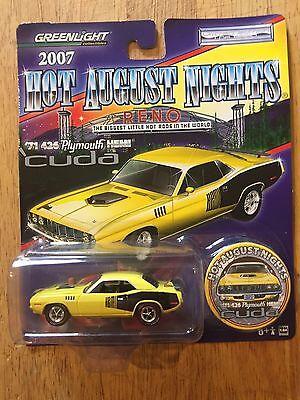 Greenlight 1971 426 Plymouth Hemi Cuda Yellow//Black 1 of 5000