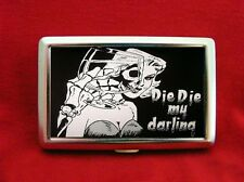 DIE DIE MY DARLING SKULL PIN UP GIRL SKELETON WALLET CIGARETTE ID IPOD CASE
